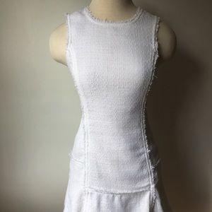 NWT Textured Dress- Fringe, Exposed Zipper, Size 0